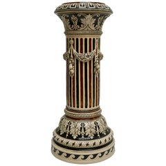 Italian Ceramic Pedestal or Column
