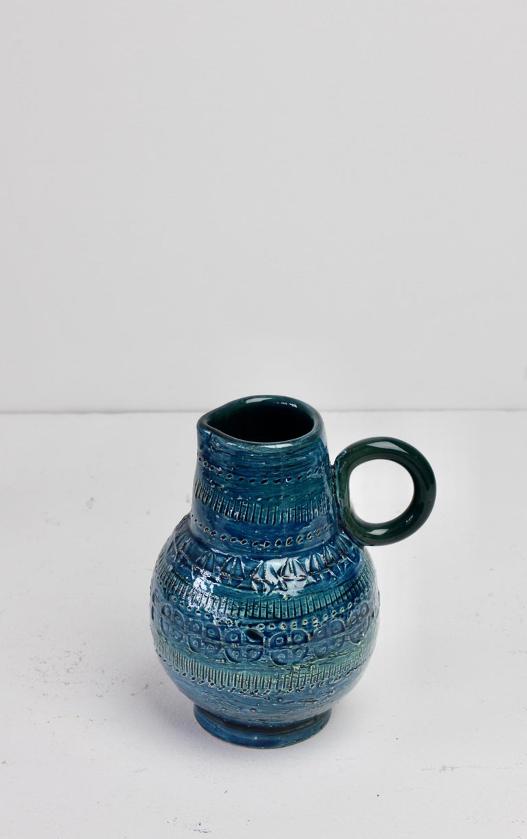 Italian Ceramic Rhimini Blue Vase by Aldo Londi for Bitossi, circa 1960s 8