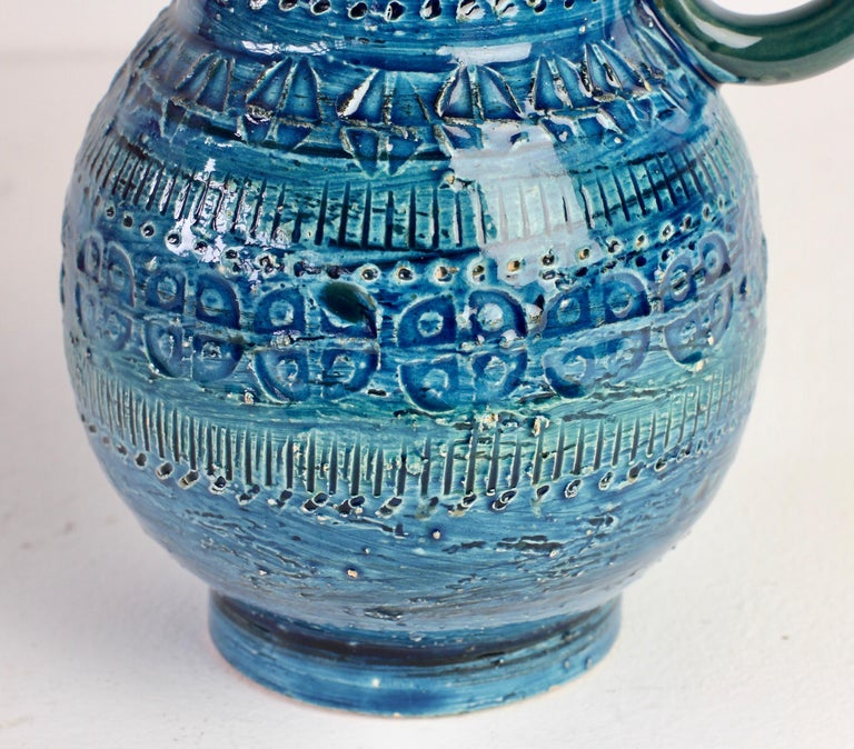 Italian Ceramic Rhimini Blue Vase by Aldo Londi for Bitossi, circa 1960s 10