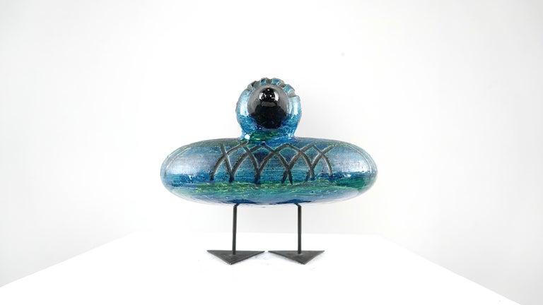 Italian Ceramic Rimini Blue Collection Duck by Aldo Londi Bitossi For Sale 9