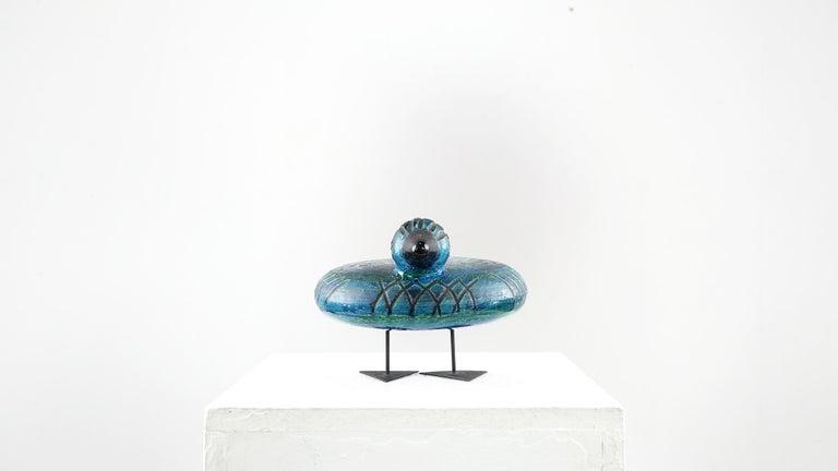 Italian Ceramic Rimini Blue Collection Duck by Aldo Londi Bitossi In Good Condition For Sale In Munster, NRW