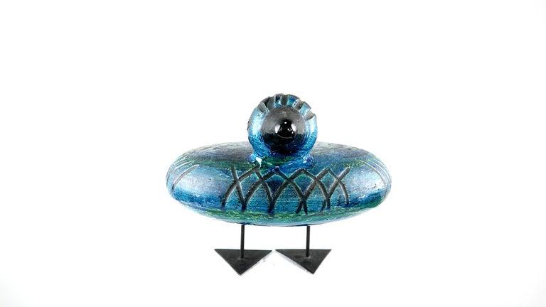 Italian Ceramic Rimini Blue Collection Duck by Aldo Londi Bitossi For Sale 1