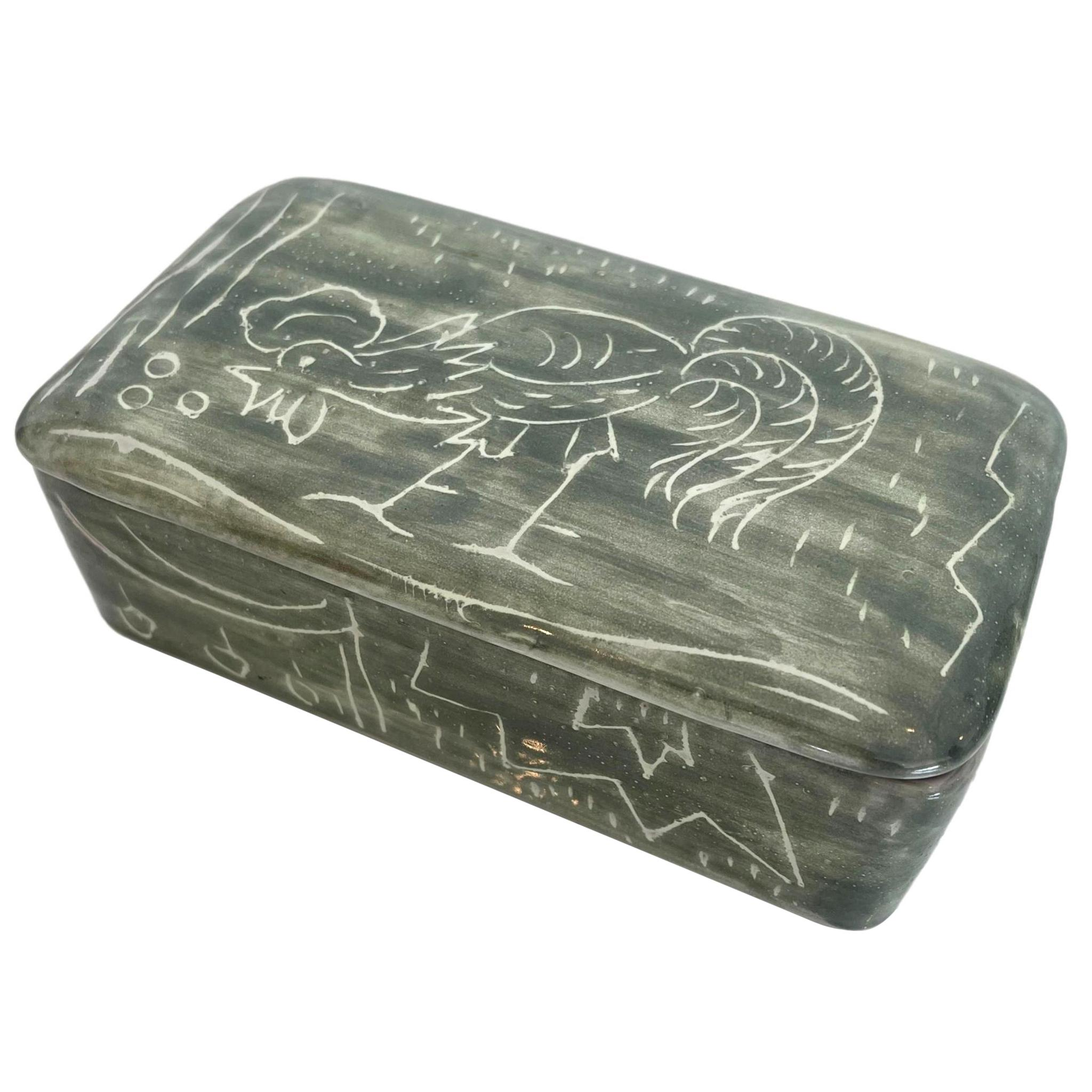 Italian Ceramic Rooster Box