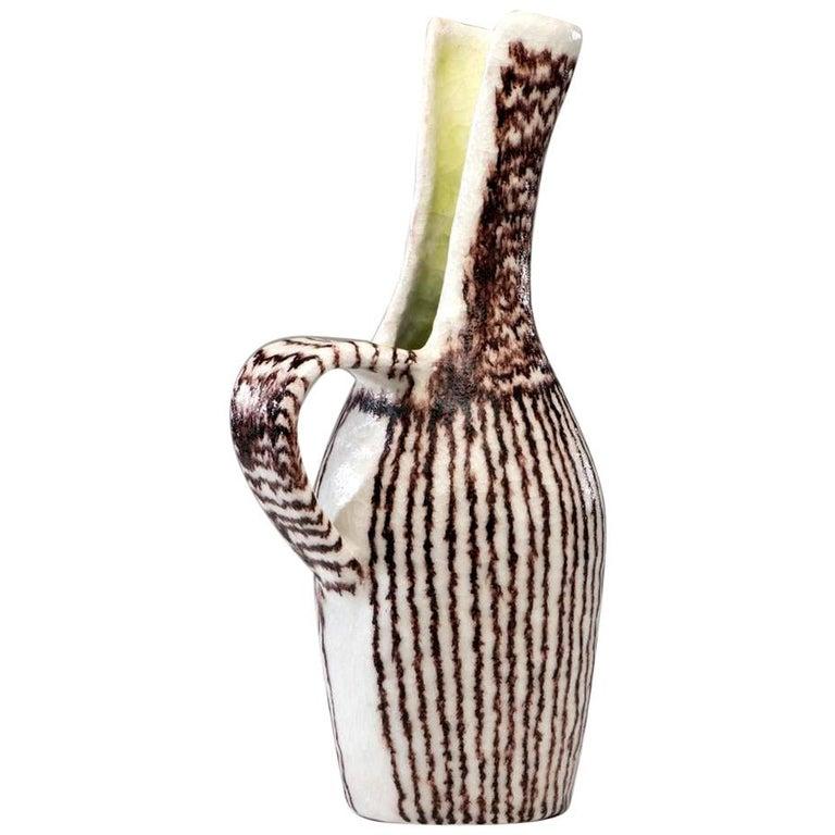Italian Ceramic Sculptural Pitcher by Guido Gambone For Sale