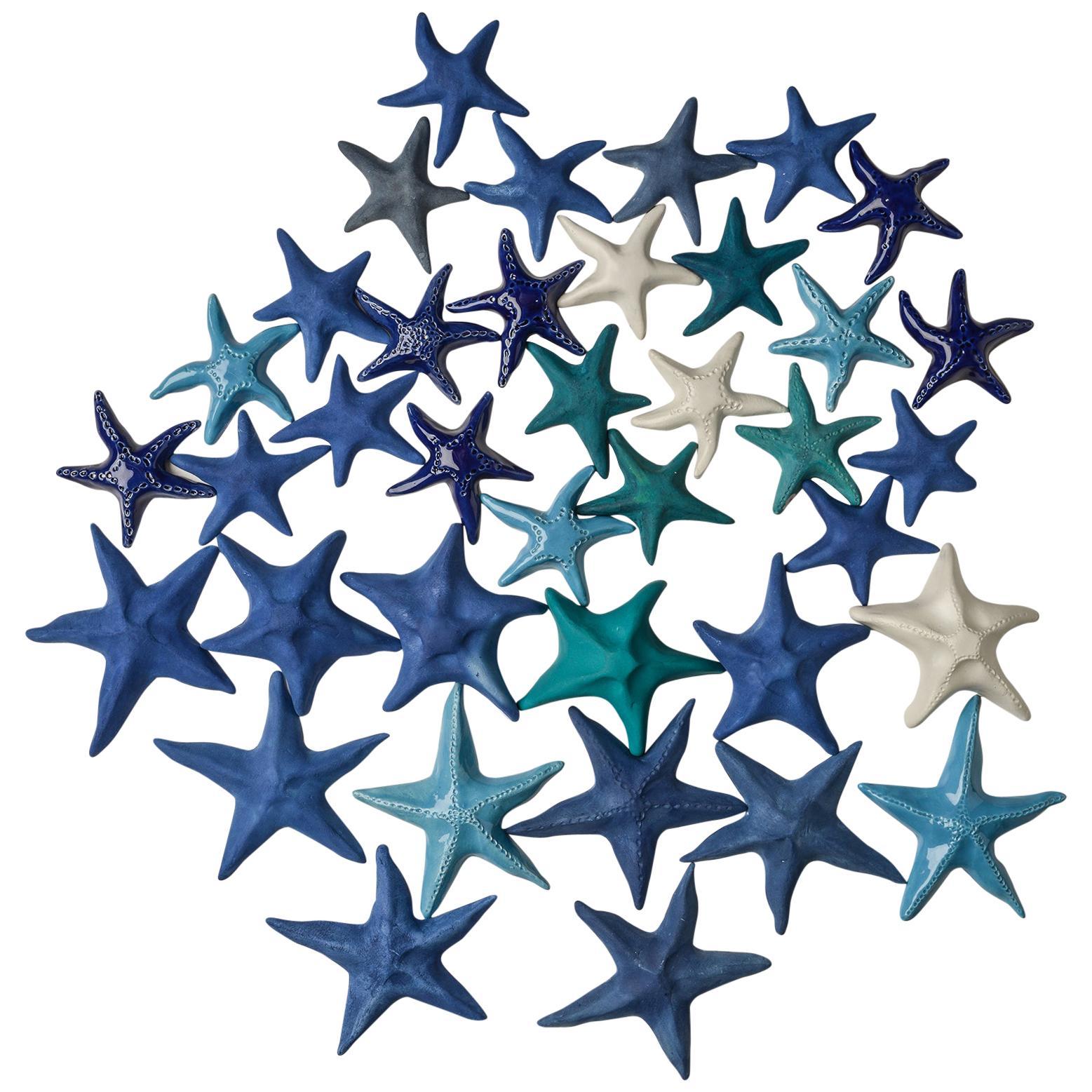Italian Hand Made Ceramic Stars