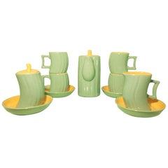 Italian Ceramic Tea Set 'Memphis' by Massimo Iosa Ghini for Naj Oleari, 1985