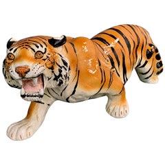 Italian Ceramic Tiger of the Midcentury Style