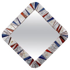 Italian Ceramic Tile Mirror
