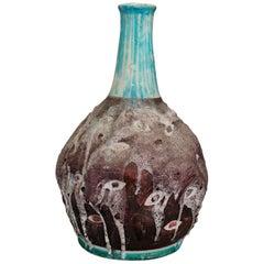 Italian Ceramic Vase Midcentury Enamelled by C.A.S. Vietri, Italy, 1950s