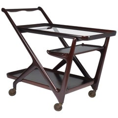 Italian Cesare Lacca for Cassina Bar or Serving Cart Trolley, 1950s