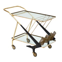 Italian Cesare Lacca Modernist Bar Cart