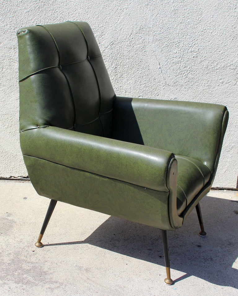 Italin 1950s chair by Gigi Radiche in original material and condition .