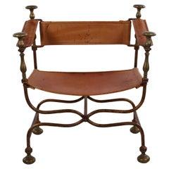 Italian Chair Made in 1940 by Iron Savonarola Dante