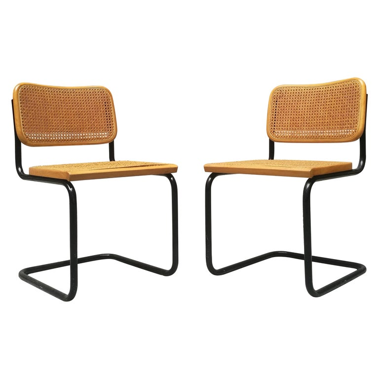 Swell Italian Chairs With Rush Bottomed Seat From 1970S In The Style Of Cesca Chairs Download Free Architecture Designs Rallybritishbridgeorg