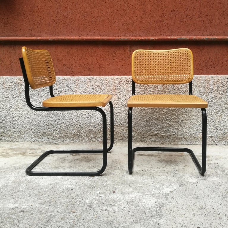 Peachy Italian Chairs With Rush Bottomed Seat From 1970S In The Style Of Cesca Chairs Download Free Architecture Designs Rallybritishbridgeorg