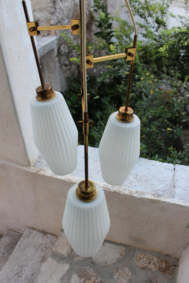 Italian Chandelier Art Deco Style In Good Condition For Sale In Los Angeles, CA