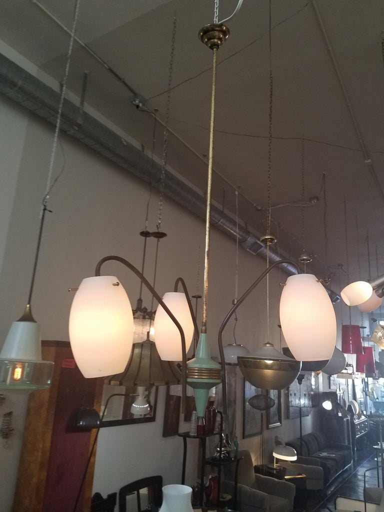 Mid-Century Modern Italian Chandelier by Stilux Milano For Sale