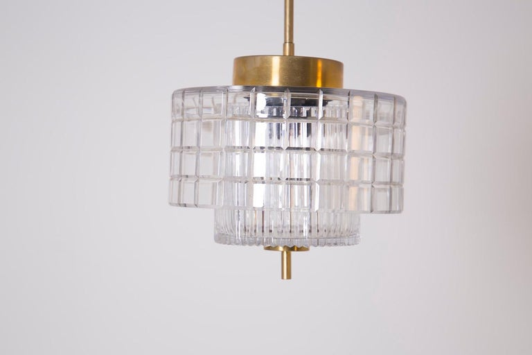 Italian Chandelier in Bohemia Crystal and Brass, 1960s In Good Condition For Sale In Milano, IT