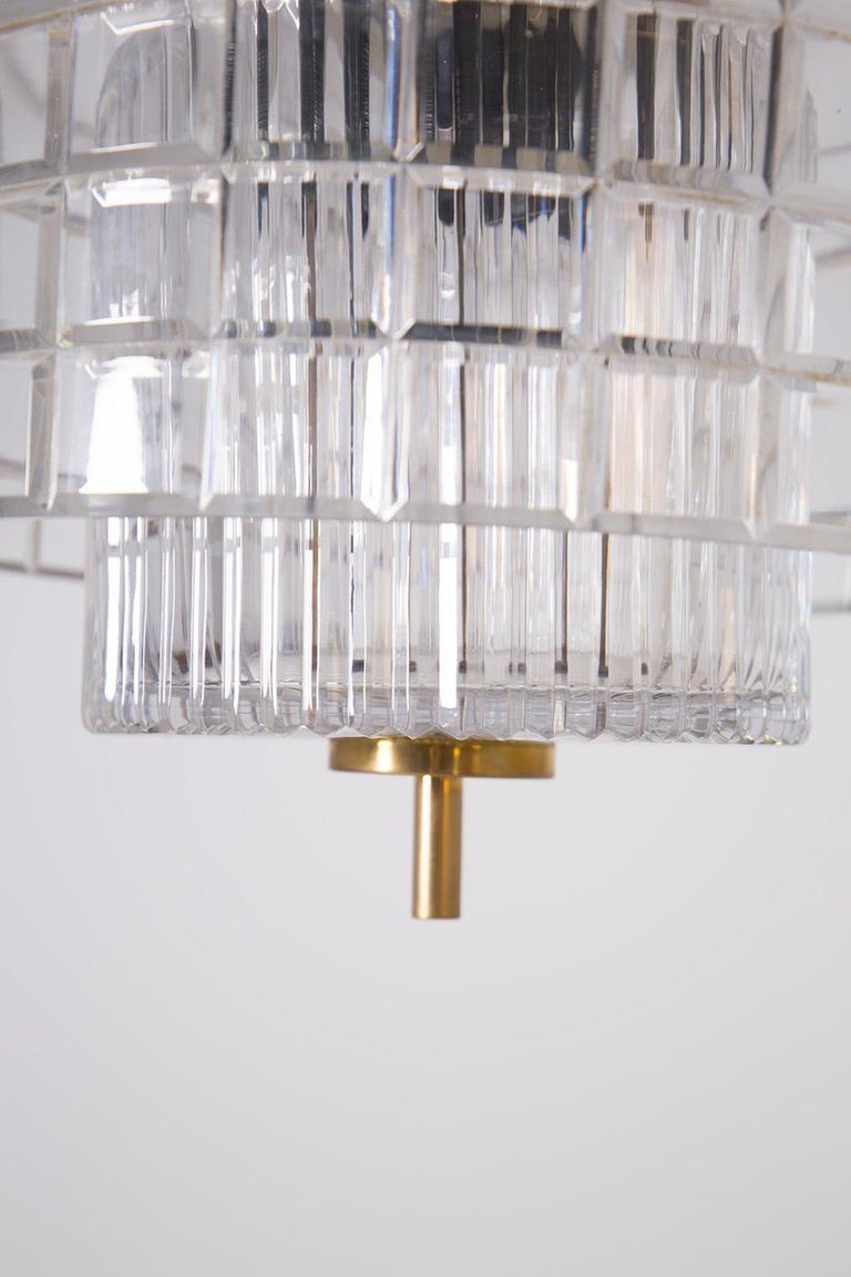 Italian Chandelier in Bohemia Crystal and Brass, 1960s For Sale 2