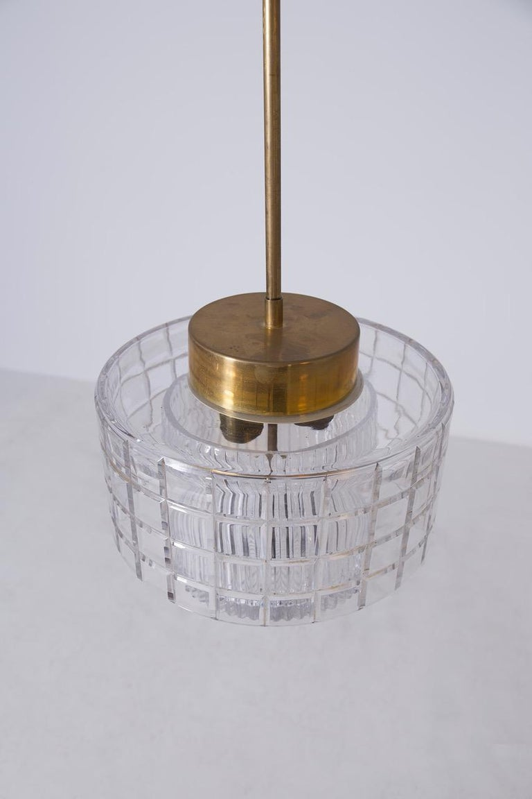 Italian Chandelier in Bohemia Crystal and Brass, 1960s For Sale 3