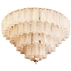 Italian Chandelier in Parallelepiped Glass, 1960s