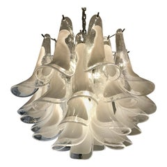 "Italian Chandelier ""Murano"" Glass ""Selle"", 1950s"