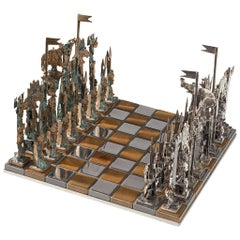 Italian Chess Game in Solid Cast Bronze and Metal