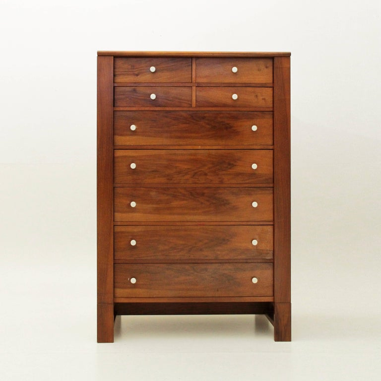 Chest Of Drawers Produced By Bernini In The 1960s Wood Veneer Structure S