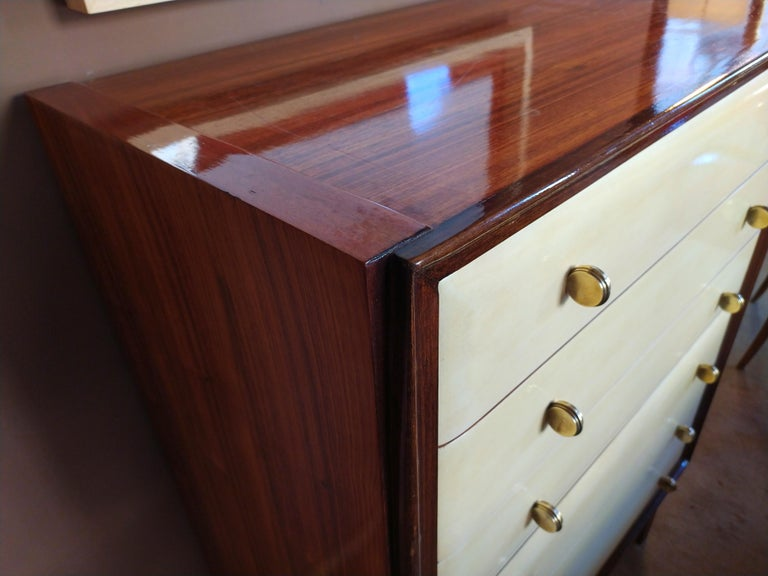 French Italian Chest of Drawers in Wood, 1940s For Sale