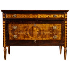Italian Chest of Drawers Inlaid in the Louis XVI Style, 20th Century