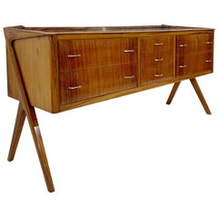 Italian Chest Of Drawers With Mirror Top