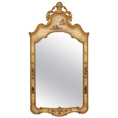 Italian Chinoiserie Gilt Mirror
