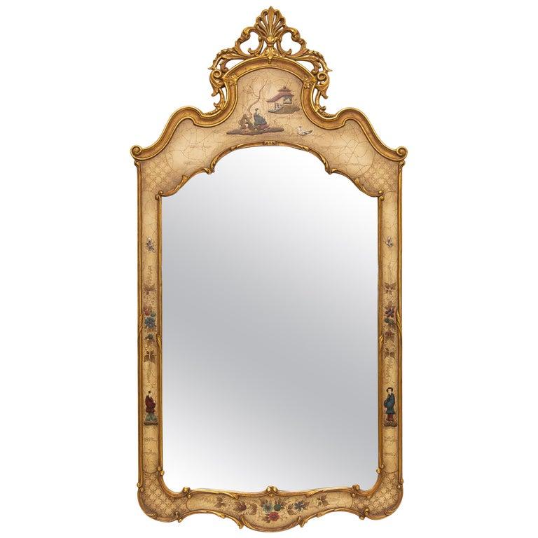 Italian Chinoiserie Gilt Mirror For Sale