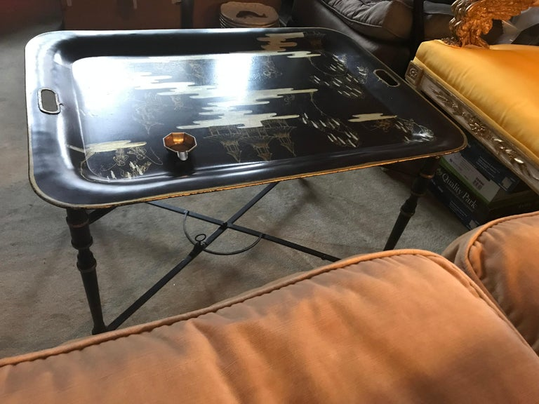 20th Century Italian Chinoiserie Tray Table For Sale