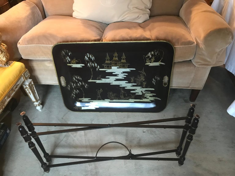 Italian Chinoiserie Tray Table For Sale 1