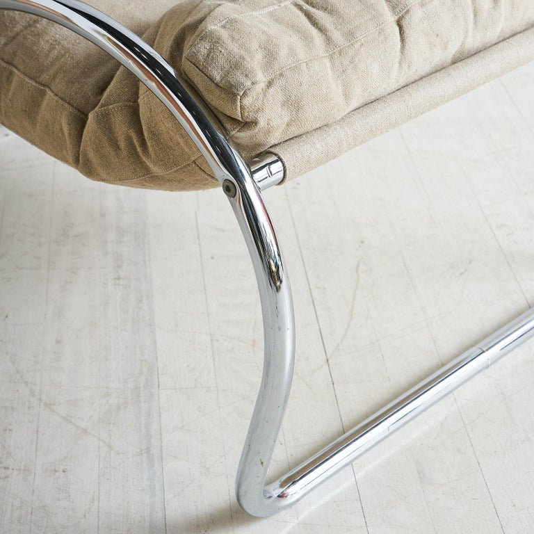 20th Century Italian Chrome Accent Chair For Sale