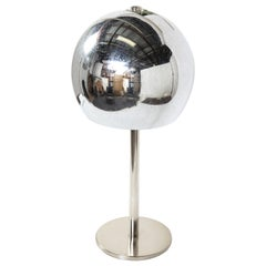Italian Chrome Globe Table Lamp, circa 1960