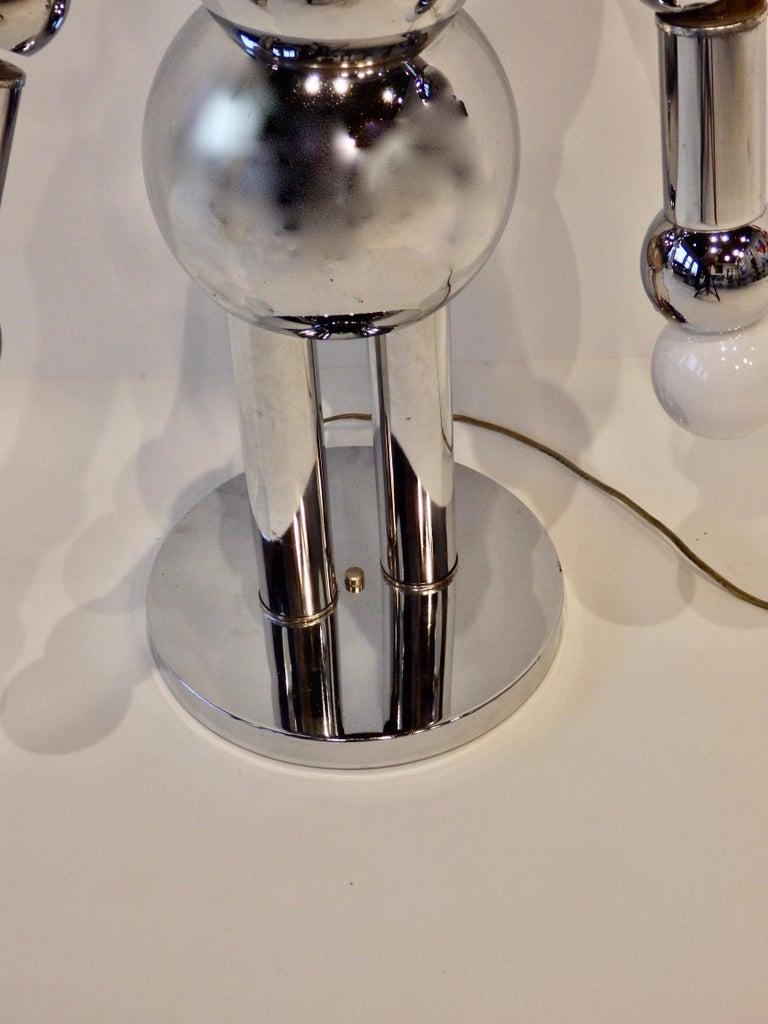 Italian Chrome Robot Lamp by Torino For Sale 4