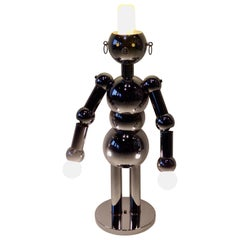Italian Chrome Robot Lamp by Torino