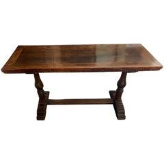 Italian circa 1800 Walnut Console Table