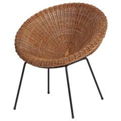 Italian Circle Chair, 1950s