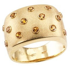Italian Citrine Gold Ring Band