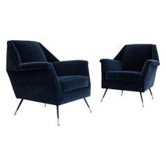 Italian Gigi Radice Club Chairs