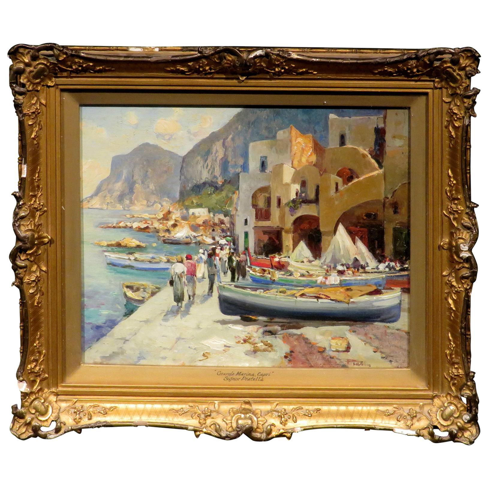 Italian Coastal Landscape by Paolo Pratella (1892-1980) Italian, Circa 1960