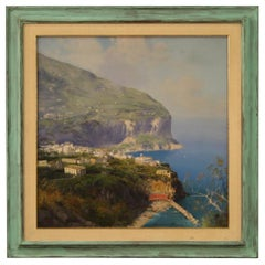 Italian Coastal Landscape Painting Signed, 20th Century