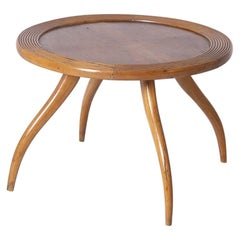 Italian Coffee Table Attributed to Osvaldo Borsani in Wood, 1950s