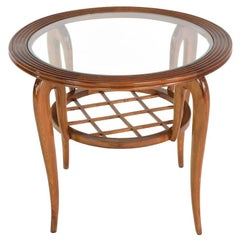 Italian Mid-Century Coffee Table Attributed to Poalo Buffa, 1950s
