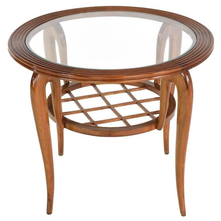 Italian Mid-Century Coffee Table Attributed to Poalo Buffa, 1950s
