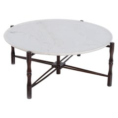 Italian Coffee Table by Giuseppe Scapinelli in Wood and Marble, 1950s