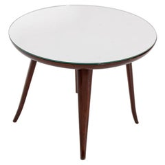 Italian Coffee Table by Pietro Chiesa in wood and Mirror, 1950s